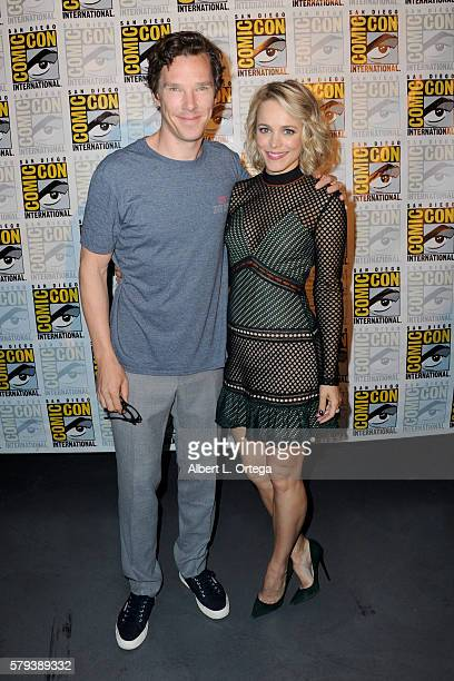 Actors Benedict Cumberbatch and Rachel McAdams attend the Marvel Studios presentation during Comic-Con International 2016 at San Diego Convention...