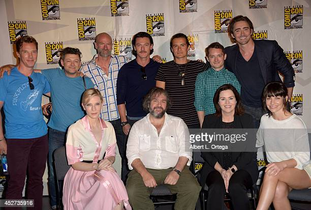 Actors Benedict Cumberbatch Andy Serkis Graham McTavish Luke Evans Orlando Bloom Elijah Wood and Lee Pace Actress Cate Blanchett director Peter...
