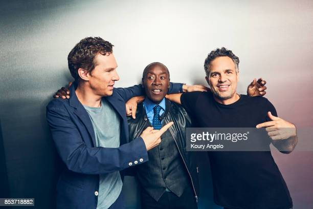 Actors Benedict Cumberbatch Don Cheadle and Mark Ruffalo are photographed for People Magazine on July 25 2017 in Los Angeles California