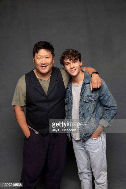 Actors Benedict Wong and Benjamin Wadsworth from 'Deadly Class' are photographed for Los Angeles Times on July 21 2018 in San Diego California...