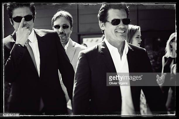 Actors Benicio Del Toro and Josh Brolin are photographed on May 15 2015 in Cannes France