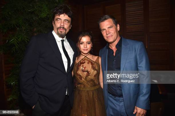 "Actors Benicio del Toro, Isabella Moner and Josh Brolin attend the after party for the premiere of Columbia Pictures' ""Sicario: Day Of The Soldado""..."
