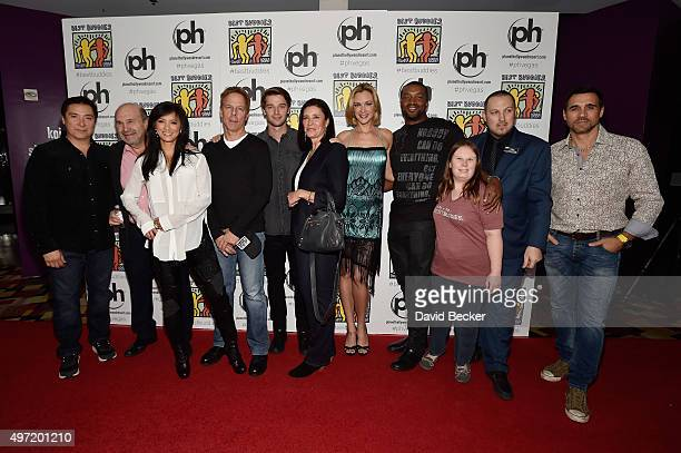 Actors Benito Martinez Bobby Costanzo Kelly Hu Greg Germann Patrick Schwarzenegger Mimi Rogers Kristanna Loken Roger Cross Best Buddies ambassador...