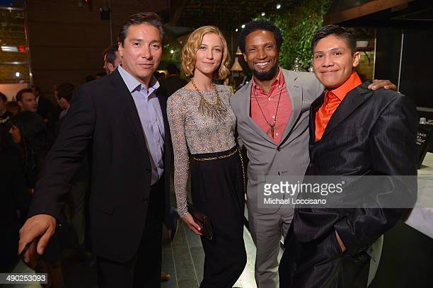 Actors Benito Martinez Caitlin Gerard Elvis Nolasco and Johnny Ortiz attend the Entertainment Weekly ABC Upfronts Party at Toro on May 13 2014 in New...