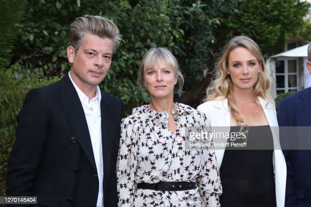 Actors Benjamin Biolay Karin Viard and Laetitia Dosch attend the Les Apparences Photocall at 13th Angouleme FrenchSpeaking Film Festival on September...