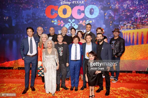 Actors Benjamin Bratt and John Ratzenberger Producer Darla K Anderson Actors Renee Victor and Herbert Siguenza Director Lee Unkrich Actors Edward...