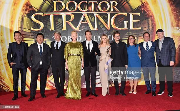 Actors Benjamin Bratt Benedict Wong Mads Mikkelsen Tilda Swinton wearing Haider Ackermann Benedict Cumberbatch Rachel McAdams writer/director Scott...