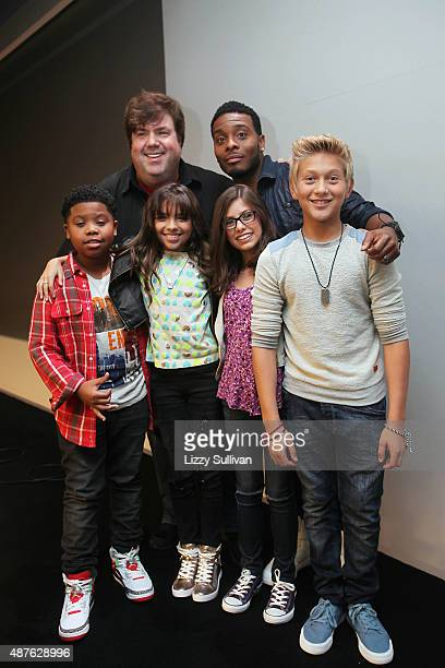Actors Benjamin Flores Jr Cree Cicchino Madisyn Shipman Thomas Kuc Kel Mitchell and director Dan Schneider attend the event Meet the Cast...
