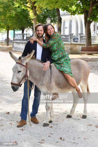 "Actors Benjamin Lavernhe and Laure Calamy attend the ""Antoinette Dans Les Cevennes"" Photocall at 13th Angouleme French-Speaking Film Festival on..."