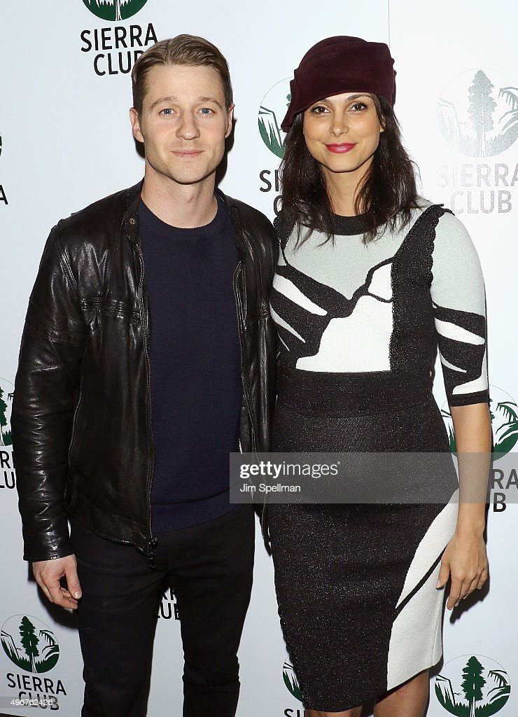 Actors Benjamin McKenzie and Morena Baccarin attend the Sierra Club's Act In Paris, a night of comedy and climate action at Heath at the McKittrick Hotel on November 11, 2015 in New York City.