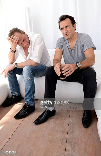 Actors Benoit Poelvoorde and Albert Dupontel of 'Le Grand Soir' poses for a portrait during the 65th Annual Cannes Film Festival on May 23 2012 in...