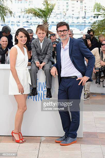 Actors Berenice Bejo Abdul Khalim Mamatsuiev and director/producer Michel Hazanavicius attend 'The Search' photocall at the 67th Annual Cannes Film...