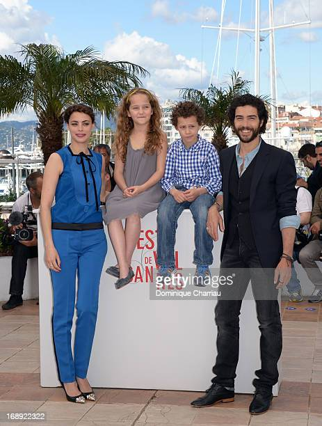 Actors Berenice Bejo Jeanne Jestin Elyes Aguis and Tahar Rahim attend the photocall for 'Le Passe' during the 66th Annual Cannes Film Festival at...