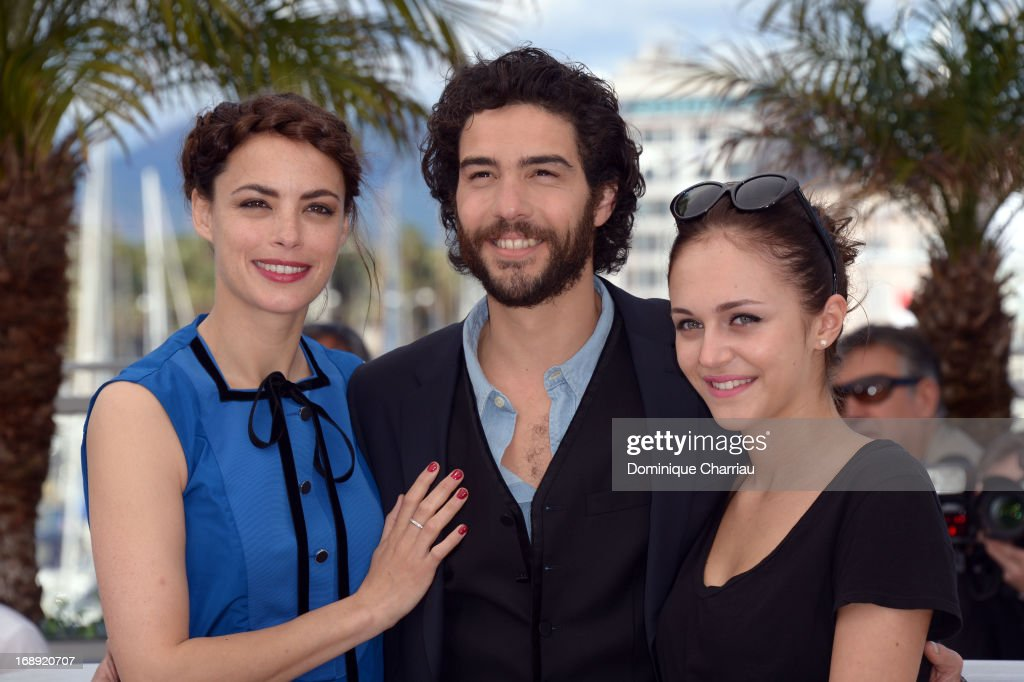 Actors Berenice Bejo, Tahar Rahim and Pauline Burlet attend the photocall for 'Le Passe' (The Past) during the 66th Annual Cannes Film Festival at Palais des Festivals on May 17, 2013 in Cannes, France.