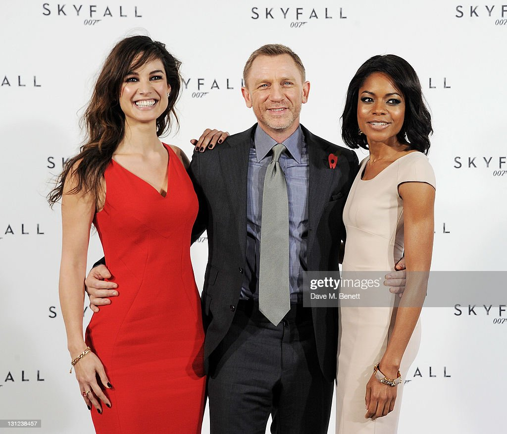 Actors Berenice Marlohe, Daniel Craig and Naomie Harris attend a photocall with cast and filmmakers to mark the start of production which is due to commence on the 23rd Bond Film and announce the title of the film as 'Skyfall' at Massimo Restaurant & Oyster Bar on November 3, 2011 in London, United Kingdom.