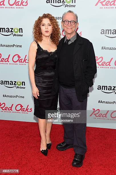Actors Bernadette Peters and Joel Grey attend the Amazon red carpet premiere for the brand new original comedy series Red Oaks on September 29 2015...