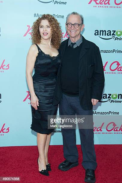Actors Bernadette Peters and Joel Grey attend the Red Oaks Series Premiere at the Ziegfeld Theater on September 29 2015 in New York City