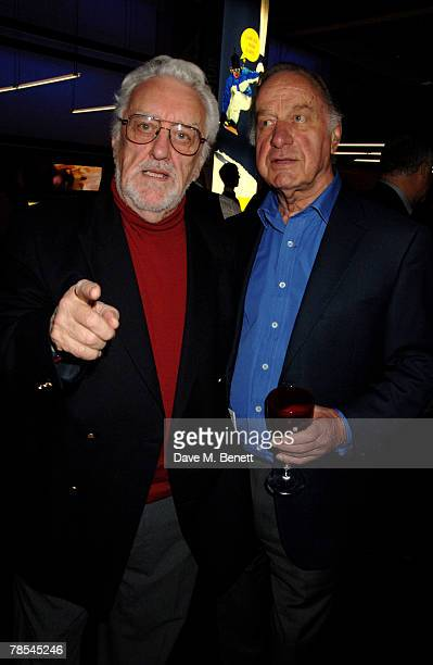 Actors Bernard Cribbins and Geoffrey Palmer attend the gala screening of the 'Doctor Who' Christmas episode at the Science Museum December 18 2007 in...