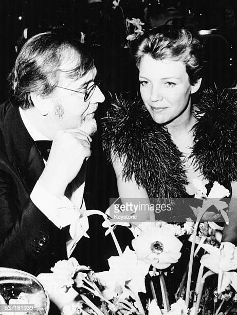 Actors Bernard Wicki And Gila von Weitershausen in conversation, at the German Film Dance, Munich, January 22nd 1974.