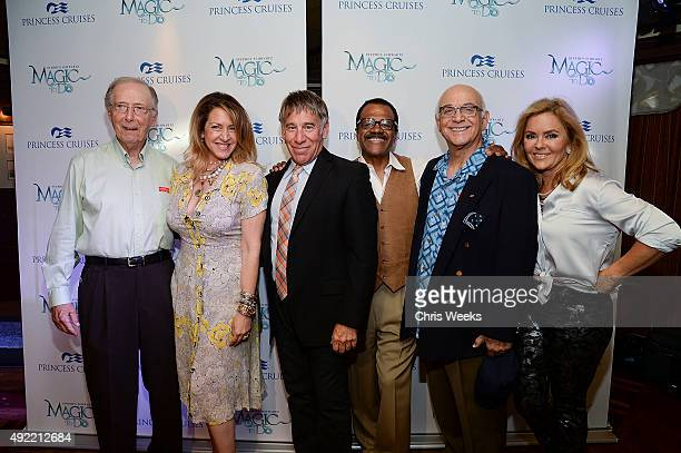 Actors Bernie Kopell Joely Fisher composer Stephen Schwartz actors Ted Lange and Jill Whelan attend Stephen Schwartz's Magic To Do Premiere aboard...