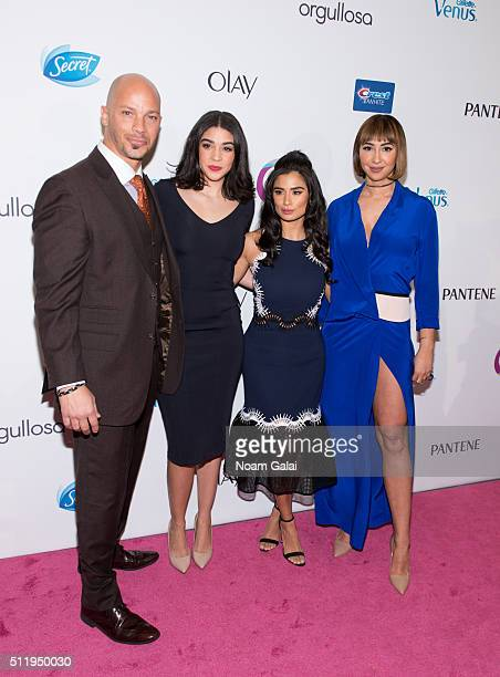 Actors Berto Colon, Karina Ortiz, Diane Guerrero and Jackie Cruz attend the Orgullosa #LivingFabulosa event at The Paley Center for Media on February...