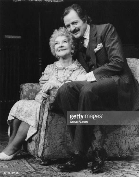 Actors Beryl Reid and Peter Bowles rehearse a scene from 'Born In The Gardens' a new play by Peter Nichols at the Globe Theatre in London 17th...
