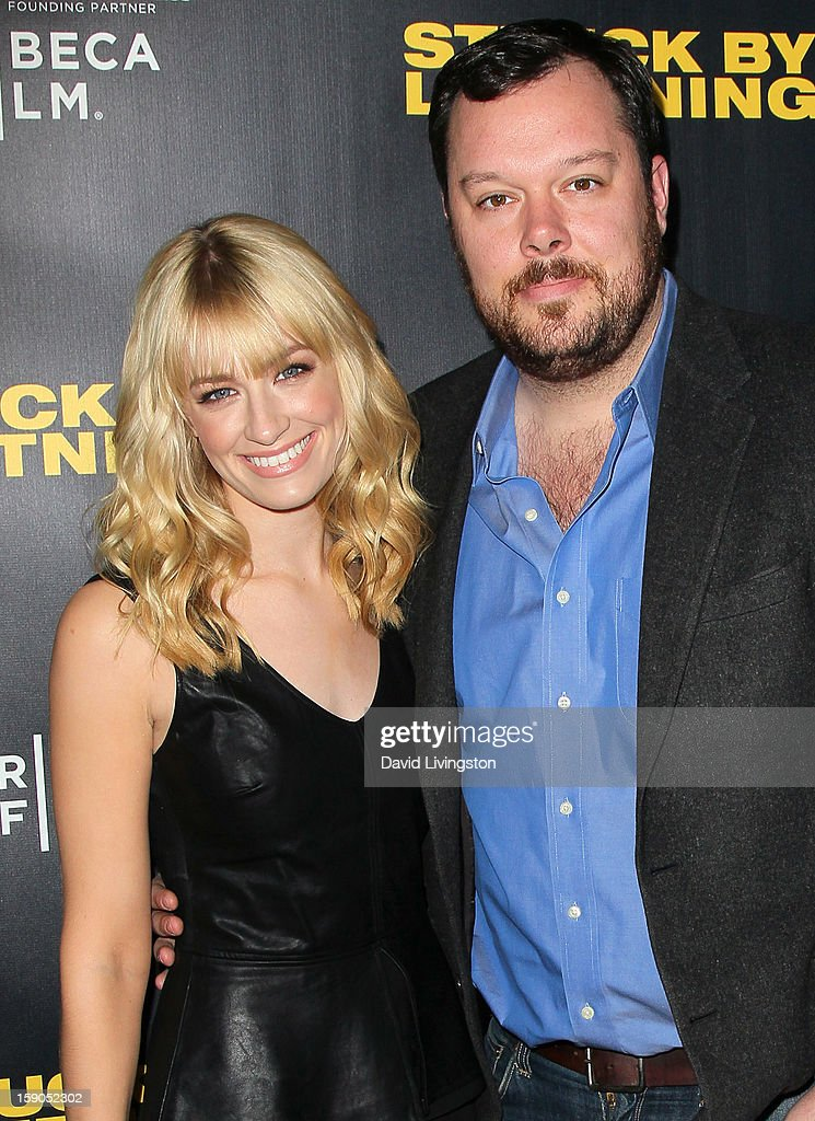 Actors Beth Behrs (L) and Michael Gladis attend a screening of Tribeca Film's 'Struck By Lightning' at Mann Chinese 6 on January 6, 2013 in Los Angeles, California.
