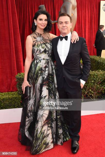 Actors Beth Dover and Joe Lo Truglio attend the 24th Annual Screen Actors Guild Awards at The Shrine Auditorium on January 21 2018 in Los Angeles...