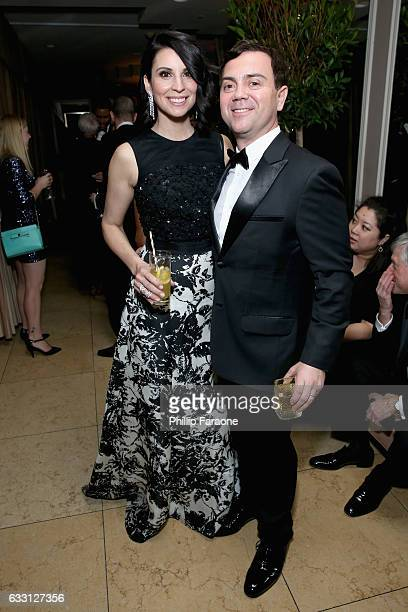 Actors Beth Dover and Joe Lo Truglio attend The Weinstein Company Netflix's 2017 SAG After Party in partnership with Absolut Elyx at Sunset Tower...