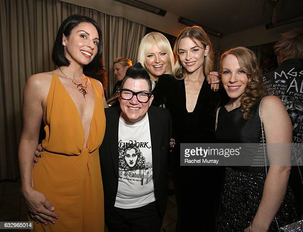 Actors Beth Dover Lea DeLaria Malin Akerman Jaime King and Emma Myles attend the Entertainment Weekly Celebration of SAG Award Nominees sponsored by...