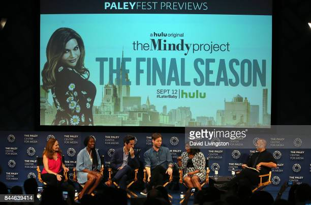 Actors Beth Grant Xosha Roquemore Ed Weeks Ike Barinholtz and Mindy Kaling and moderator Jarett Wieselman attend The Paley Center for Media's 11th...