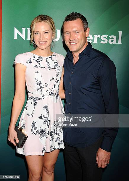 Actors Beth Riesgraf and Jason O'Mara attend the 2015 NBCUniversal Summer Press Day held at the The Langham Huntington Hotel and Spa on April 02 2015...