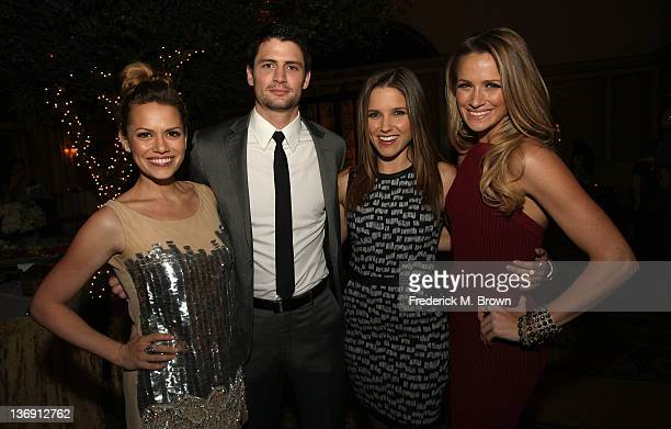 Actors Bethany Joy Galeotti James Lafferty Sophia Bush and Shantel VanSanten attend the 'One Tree Hill' Final Season cocktail reception during the CW...