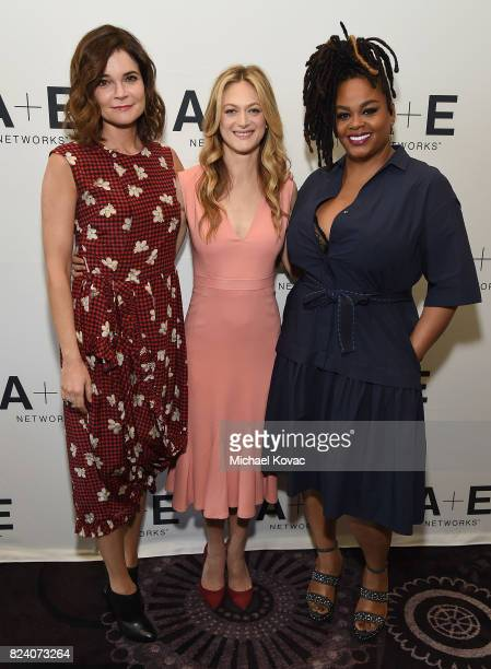 Actors Betsy Brandt Marin Ireland and Jill Scott of 'Flint' at the Lifetime and AE Networks portion of the 2017 Summer Television Critics Association...
