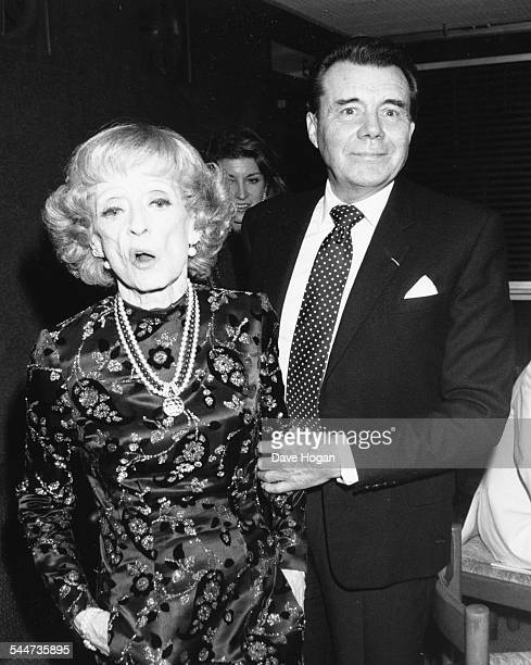 Actors Bette Davis and Dirk Bogarde at the National Film Theatre London September 20th 1987