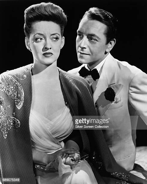 Actors Bette Davis and Paul Henreid in a publicity still for the film 'Now Voyager' 1942