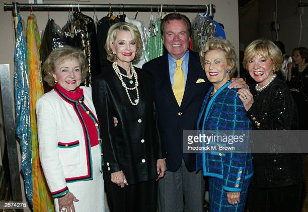 Actors Betty White Constance Towers Gavin Robert Wagner June Haver and Beverly Garland attend the Screen Smart Set Auxiliary of the Motion Picture...