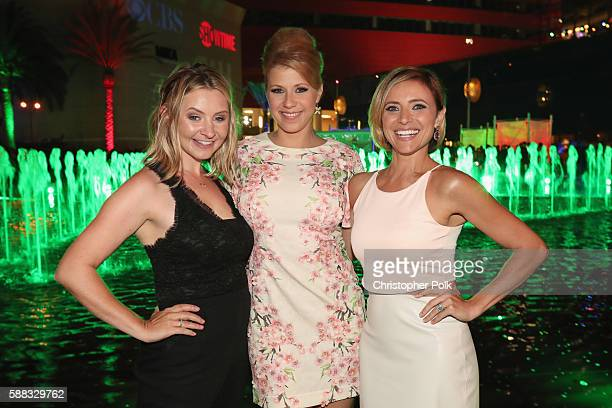 Actors Beverley Mitchell Jodie Sweetin and Christine Lakin attend the CBS CW Showtime Summer TCA Party at Pacific Design Center on August 10 2016 in...
