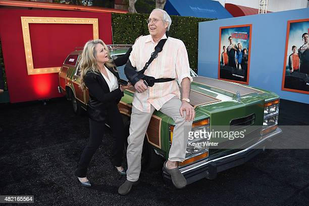 Actors Beverly D'Angelo and Chevy Chase attend the premiere of Warner Bros Pictures Vacation at Regency Village Theatre on July 27 2015 in Westwood...