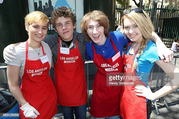 Actors Bex TaylorKlaus Sean Ryan Fox Nicholas Azarian and Jennifer Jolliff attend the End of Summer Block Party at Los Angeles Mission on August 8...