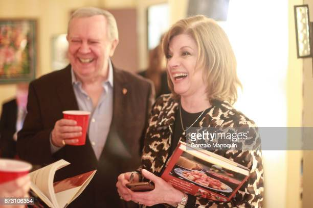 Actors Bill and Janis Corsair during the Paul Dee Dee Sorvino celebrate their new book Pinot Pasta Parties at 200 East 57th Street on April 25 2017...