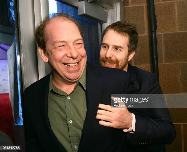 Actors Bill Camp and Sam Rockwell attend the DIRECTTV Premiere Of Women Walks Ahead At 2018 Tribeca Film Festival on April 25 2018 in New York City