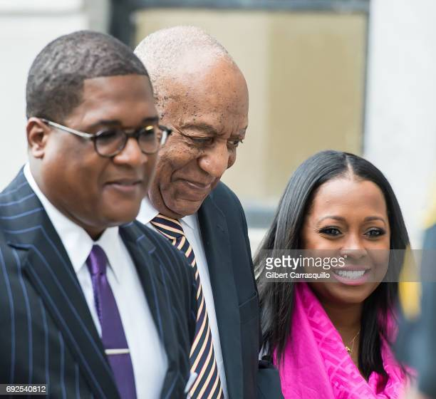 Actors Bill Cosby and Keshia Knight Pulliam are seen arriving for the first day of trial on June 5, 2017 in Norristown, Pennsylvania.