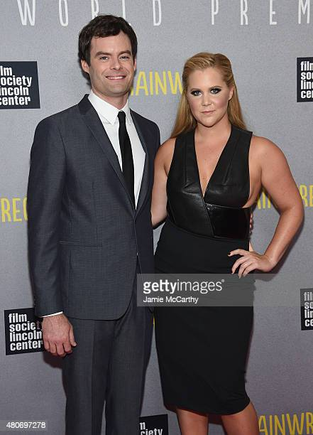 Actors Bill Hader and Amy Schumer attend the 'Trainwreck' New York Premiere at Alice Tully Hall on July 14 2015 in New York City