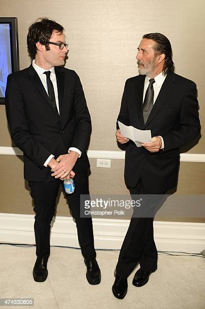 Actors Bill Hader and Ciarán Hinds attend the 16th Costume Designers Guild Awards with presenting sponsor Lacoste at The Beverly Hilton Hotel on...