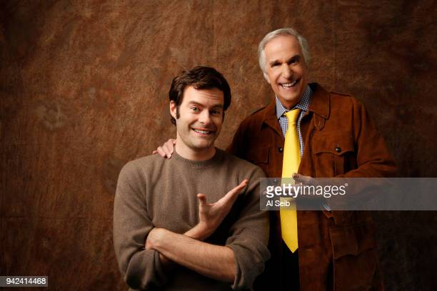 Actors Bill Hader and Henry Winkler are photographed for Los Angeles Times on February 6 2018 in Los Angeles California PUBLISHED IMAGE CREDIT MUST...