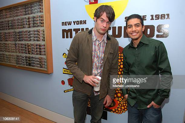 Actors Bill Hader and Rick Gonzalez pose after Rick appeared on MTV's 'Sucker Free' at MTV Studios in New York City's Times Square on August 21 2007...