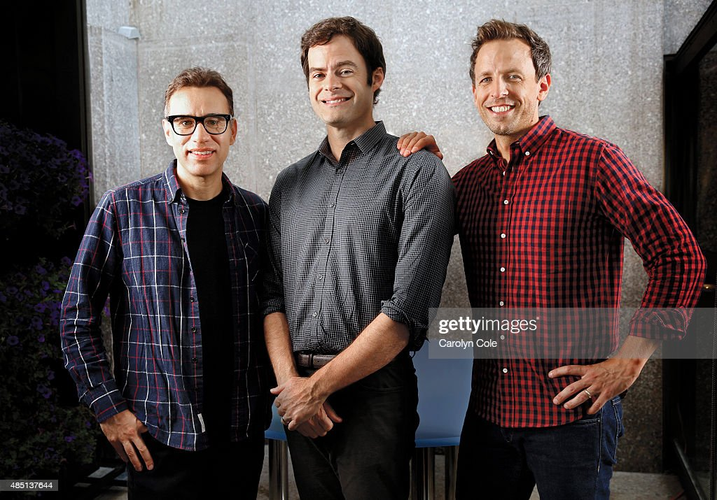 Seth Meyers, Bill Hader, and Fred Armisen, LA Times, August 20, 2015