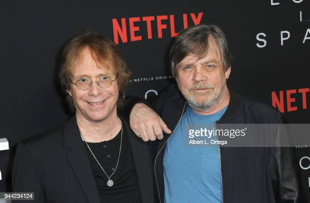 Actors Bill Mumy and Mark Hamill arrive for the Premiere Of Netflix's 'Lost In Space' Season 1 held at The Cinerama Dome on April 9 2018 in Los...