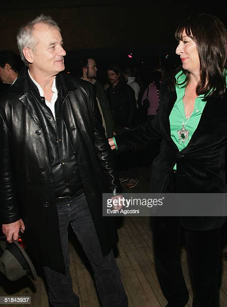 "Actors Bill Murray and Anjelica Huston attend ""The Life Aquatic With Steve Zissou"" premiere after party at Roseland Ballroom December 9, 2004 in New..."